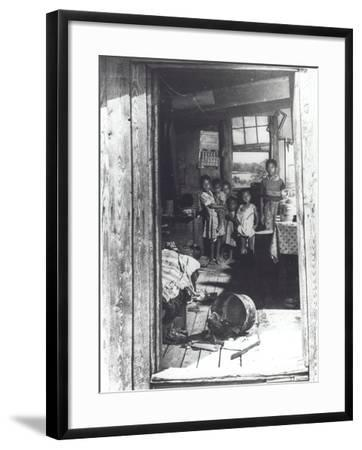 Overcrowded Shack in Caroline County, Virginia, 1941--Framed Photographic Print