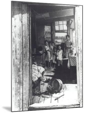 Overcrowded Shack in Caroline County, Virginia, 1941--Mounted Photographic Print