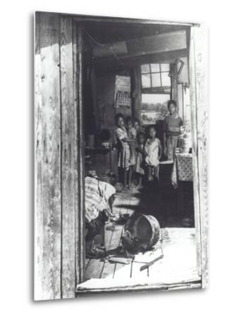 Overcrowded Shack in Caroline County, Virginia, 1941--Metal Print
