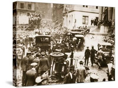 Bomb Damage Outside J.P. Morgan and Co, 16th September 1920--Stretched Canvas Print