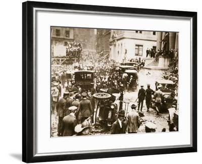 Bomb Damage Outside J.P. Morgan and Co, 16th September 1920--Framed Photographic Print