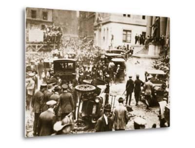 Bomb Damage Outside J.P. Morgan and Co, 16th September 1920--Metal Print