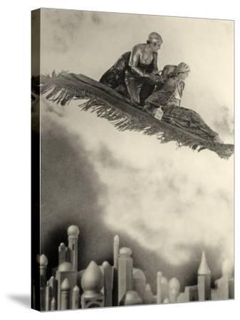 "Douglas Fairbanks Senior Filming ""The Thief of Bagdad"" 1924--Stretched Canvas Print"