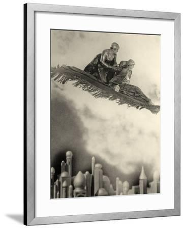 "Douglas Fairbanks Senior Filming ""The Thief of Bagdad"" 1924--Framed Photographic Print"