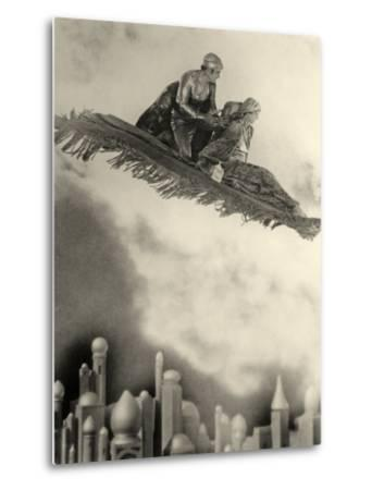 "Douglas Fairbanks Senior Filming ""The Thief of Bagdad"" 1924--Metal Print"