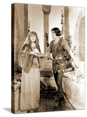"Enid Bennett and Douglas Fairbanks Senior Filming ""Robin Hood"" 1922--Stretched Canvas Print"