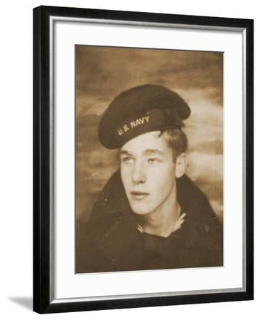 Studio Portrait of a Young American Sailor, C.1940--Framed Photographic Print