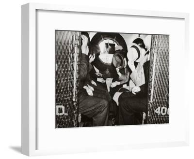 Gangsters in a Patrol Wagon on their Way to Dewey's Office--Framed Photographic Print