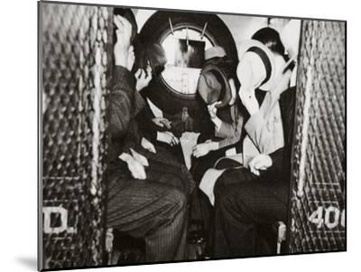 Gangsters in a Patrol Wagon on their Way to Dewey's Office--Mounted Photographic Print