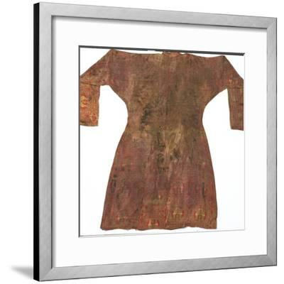 Brightly Coloured Seljuk Lampas Robe, Central Asia, 11th - 12th Century--Framed Photographic Print