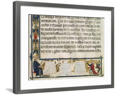 Leather Processing and Manufacture, Miniature from the Mariegola--Framed Photographic Print