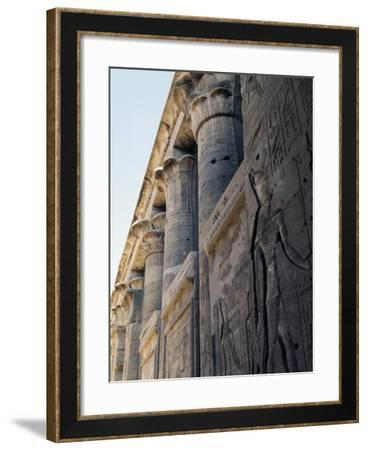 Reliefs and Capitals from Trajan's Kiosk, Philae Temple Complex--Framed Photographic Print