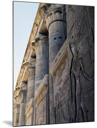 Reliefs and Capitals from Trajan's Kiosk, Philae Temple Complex--Mounted Photographic Print