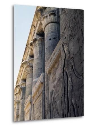 Reliefs and Capitals from Trajan's Kiosk, Philae Temple Complex--Metal Print