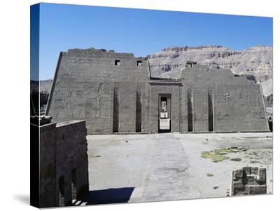 First Pylon of Mortuary Temple of Ramesses III, Medinet Habu, Thebes--Stretched Canvas Print