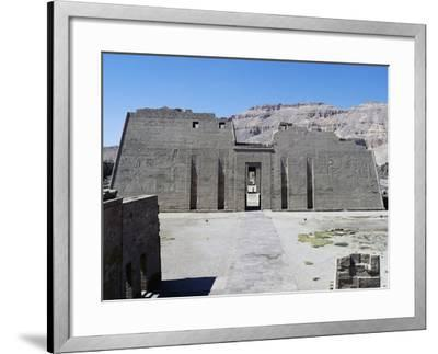 First Pylon of Mortuary Temple of Ramesses III, Medinet Habu, Thebes--Framed Photographic Print