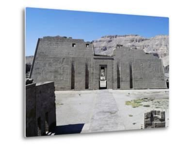First Pylon of Mortuary Temple of Ramesses III, Medinet Habu, Thebes--Metal Print
