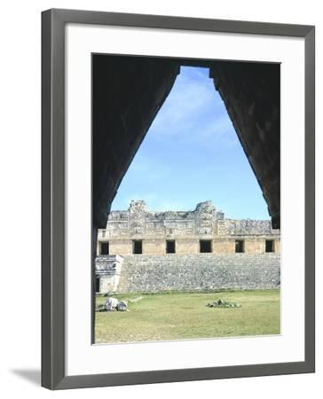 The Access Arch to the Nunnery Quadrangle in Uxmal--Framed Photographic Print