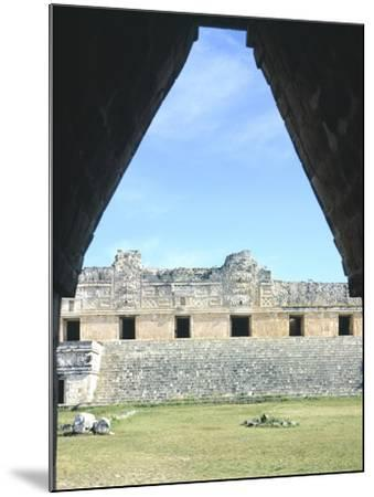 The Access Arch to the Nunnery Quadrangle in Uxmal--Mounted Photographic Print