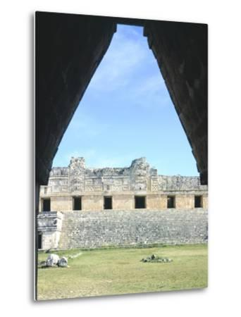 The Access Arch to the Nunnery Quadrangle in Uxmal--Metal Print