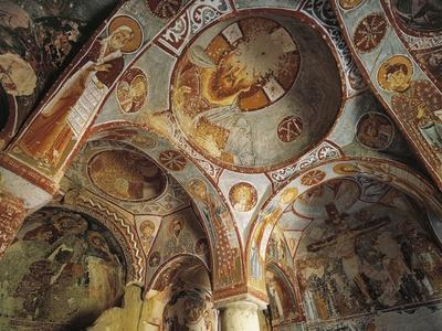 Internal Vaulting with 11th Century Frescoes, Goreme Valley Church--Framed Photographic Print