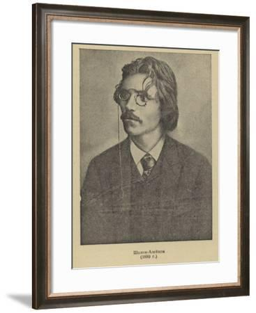 Sholem Aleichem, Russian Yiddish Author and Playwright--Framed Photographic Print