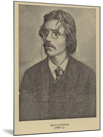 Sholem Aleichem, Russian Yiddish Author and Playwright--Mounted Photographic Print