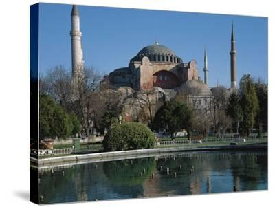 Hagia Sophia, 6th Century, Historic Areas of Istanbul--Stretched Canvas Print