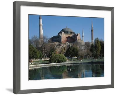 Hagia Sophia, 6th Century, Historic Areas of Istanbul--Framed Photographic Print