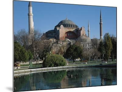 Hagia Sophia, 6th Century, Historic Areas of Istanbul--Mounted Photographic Print