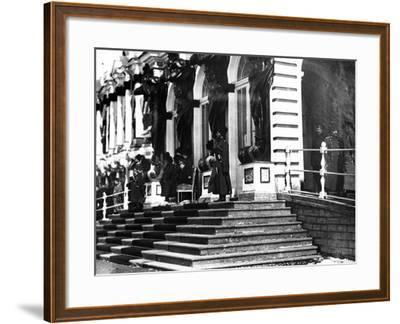 The Russian Imperial Family on the Steps of Catherine Palace, C.1912--Framed Photographic Print