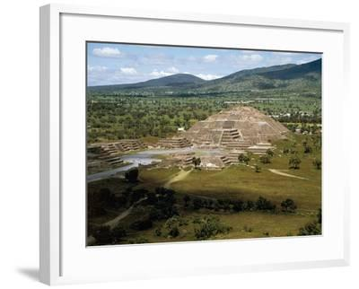 Pyramid of Moon Seen from Pyramid of Sun, Teotihuacan--Framed Photographic Print