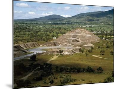 Pyramid of Moon Seen from Pyramid of Sun, Teotihuacan--Mounted Photographic Print