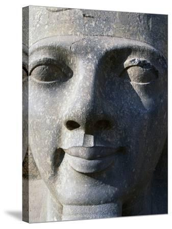Colossal Head of Ramesses II, Entrance to Temple of Amun--Stretched Canvas Print
