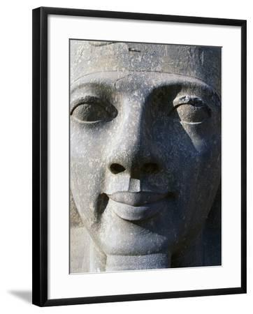 Colossal Head of Ramesses II, Entrance to Temple of Amun--Framed Photographic Print