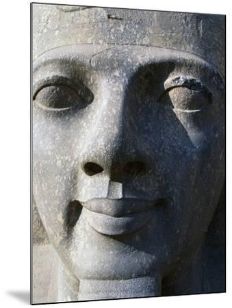 Colossal Head of Ramesses II, Entrance to Temple of Amun--Mounted Photographic Print