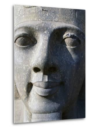 Colossal Head of Ramesses II, Entrance to Temple of Amun--Metal Print