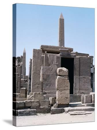 Sacred Shrine of Boats and Obelisks of Hatshepsut, Karnak Temple Complex--Stretched Canvas Print