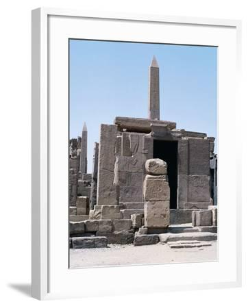 Sacred Shrine of Boats and Obelisks of Hatshepsut, Karnak Temple Complex--Framed Photographic Print