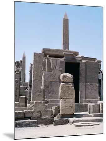 Sacred Shrine of Boats and Obelisks of Hatshepsut, Karnak Temple Complex--Mounted Photographic Print
