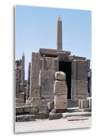 Sacred Shrine of Boats and Obelisks of Hatshepsut, Karnak Temple Complex--Metal Print