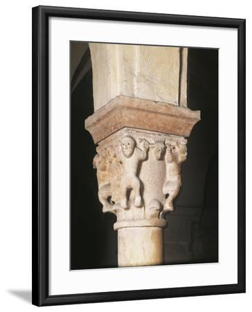 Relief Decorated Capital, Crypt Basilica of San Zeno, Verona--Framed Photographic Print
