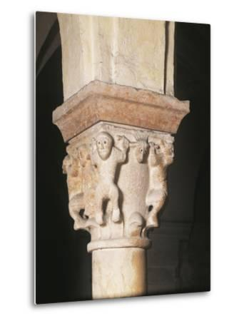 Relief Decorated Capital, Crypt Basilica of San Zeno, Verona--Metal Print