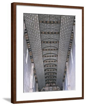 Glimpse of Carinated Wooden Ceiling, Basilica of San Zeno, Verona--Framed Photographic Print