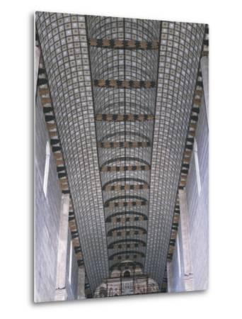 Glimpse of Carinated Wooden Ceiling, Basilica of San Zeno, Verona--Metal Print