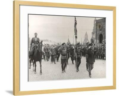 Sending Off Troops to the Front, Moscow, June 1917--Framed Photographic Print