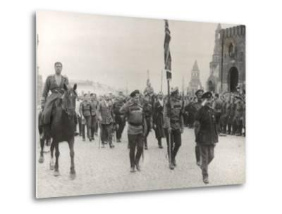 Sending Off Troops to the Front, Moscow, June 1917--Metal Print