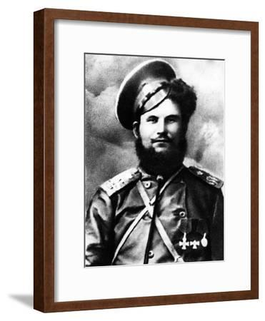 Chairman of the Don Cossack Military Revolutionary Committee, Circa 1918--Framed Photographic Print