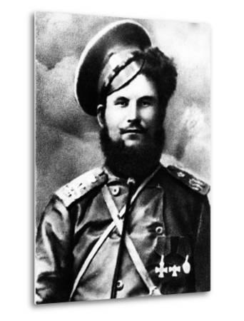 Chairman of the Don Cossack Military Revolutionary Committee, Circa 1918--Metal Print