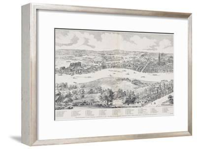 Panorama of London, Westminster and Southwark, Illustration from 'Maps of Old London', 1543-Anthonis van den Wyngaerde-Framed Giclee Print